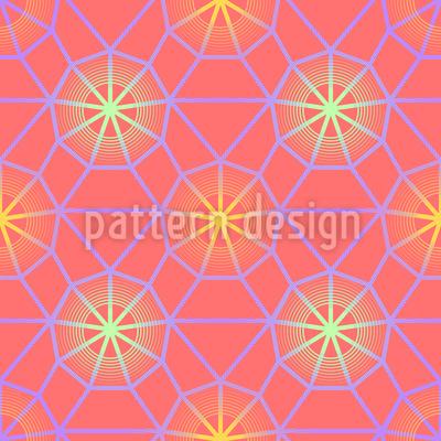 Sanftes Netzglühen Vektor Muster