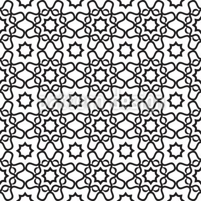 Islamische Fliese Nahtloses Vektormuster