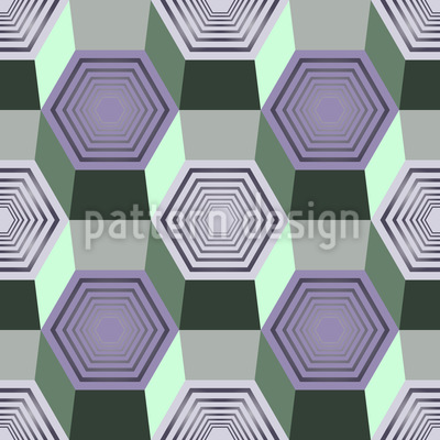 Hexagonal Movement Repeating Pattern