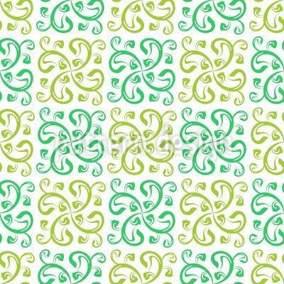 Floraler Strudel Muster Design