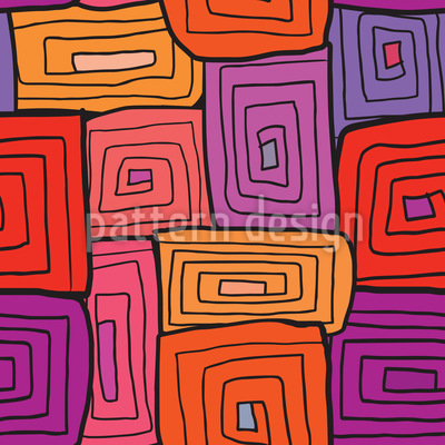 Spiral Square Repeating Pattern