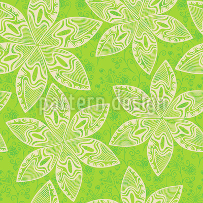 Flower Cartoon Seamless Vector Pattern Design