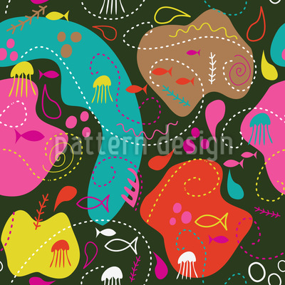 Miros Ocean Seamless Vector Pattern Design