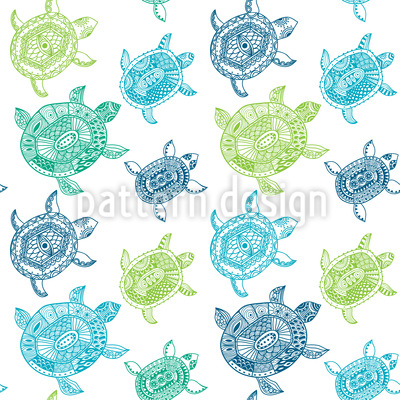 Die Fantastische Reise Der Meeresschildkröten Muster Design