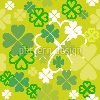 Irisches Glück Nahtloses Vektormuster