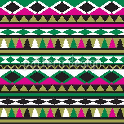 Ethno Weihnacht Nahtloses Muster