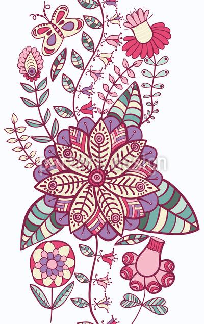 Skyward Flowers Repeat Pattern