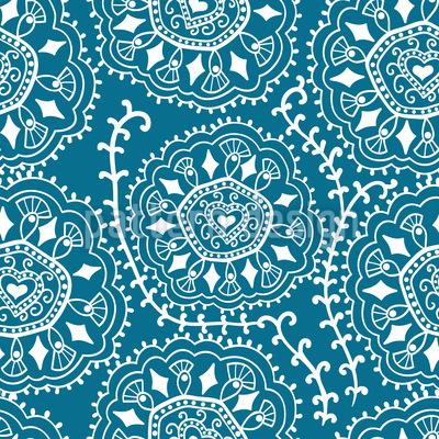 Herzdeckchen Muster Design