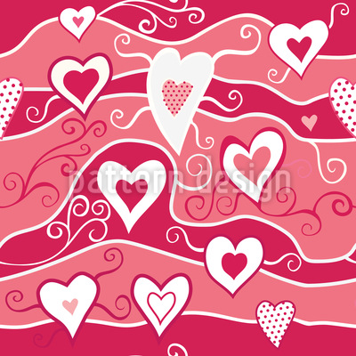 Sea Of Hearts Repeating Pattern