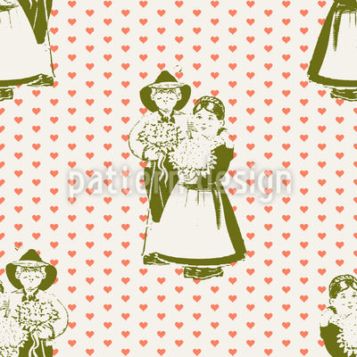 Tyrolean Lover Seamless Vector Pattern Design