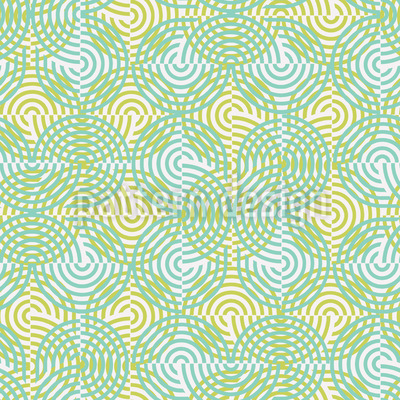 Half Circle Spring Seamless Vector Pattern