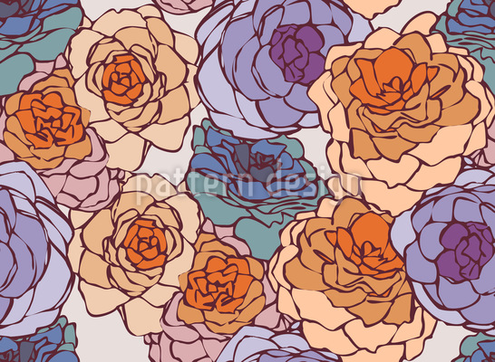 Rose Art Nouveau Muster Design