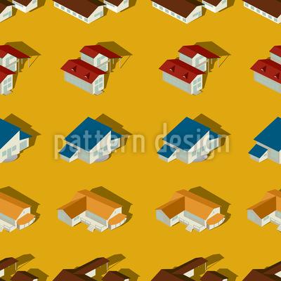 Die Häuser Der Vorstadt Vektor Muster