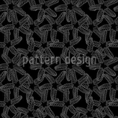 Seesterne Monochrom Nahtloses Muster