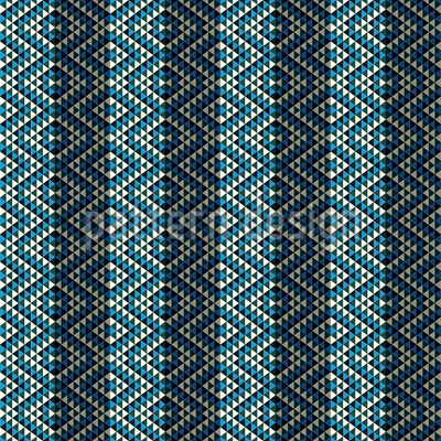 Ethno Rhombes On Stripes Vector Pattern