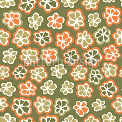 Herbst Blümchen Nahtloses Vektor Muster