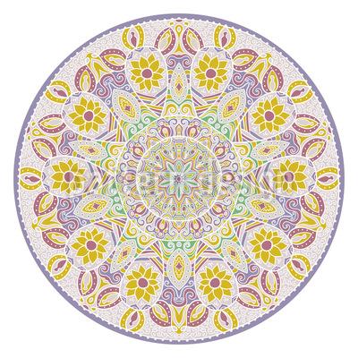 Mandala Floral Design de padrão vetorial sem costura