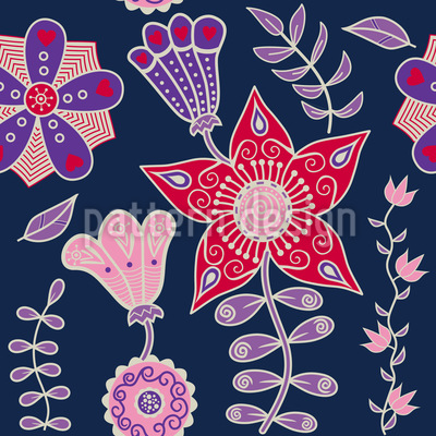 Night Flowers Of Kutna Hora Pattern Design