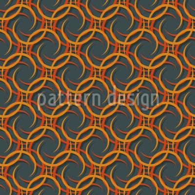 Halbmonde Nahtloses Muster