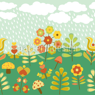 Late Summer Rain Pattern Design