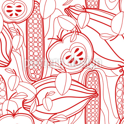 Healthy Variations Seamless Vector Pattern Design