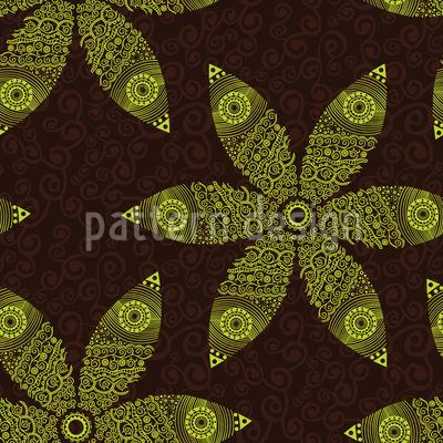 Autumny Flower Movement Seamless Vector Pattern