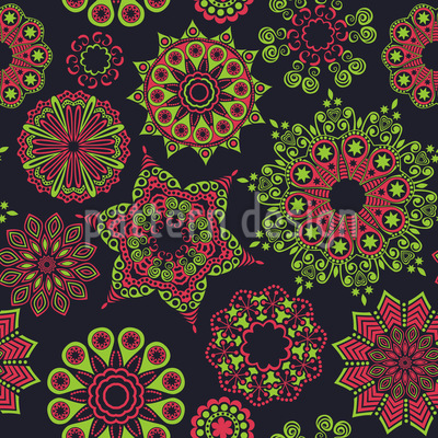 Christmas In Moscow Vector Pattern