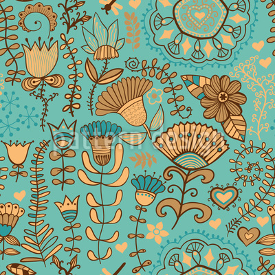 Flowers In Bohemia Pattern Design