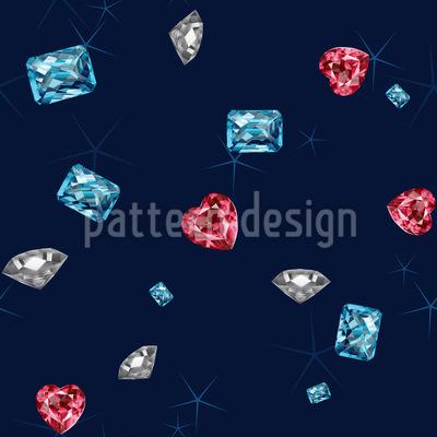 Bling Bling Diamonds Seamless Vector Pattern
