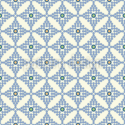 Dot Check Seamless Vector Pattern