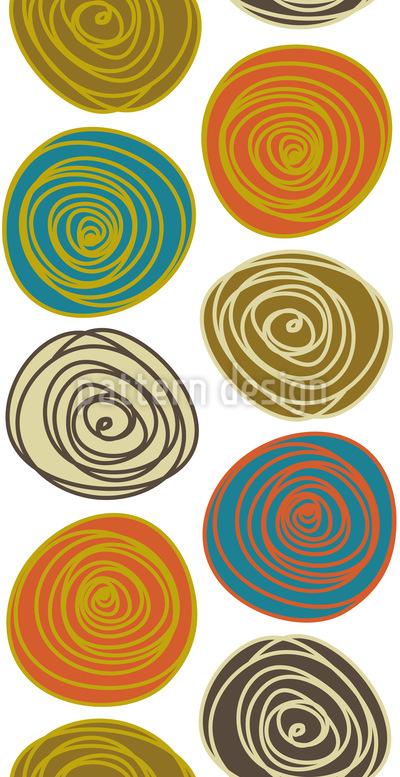 Steinchen Kreise Nahtloses Muster