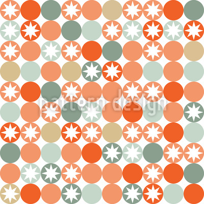 Autumnal Star Bingo Seamless Vector Pattern