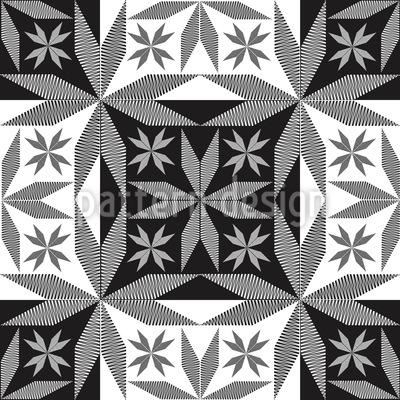 Scandinavian Stars Repeat Pattern