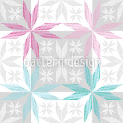 Skandinavischer Sternen Frost Vektor Ornament