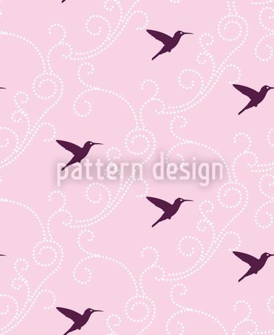 Lila Kolibri Rapportiertes Design