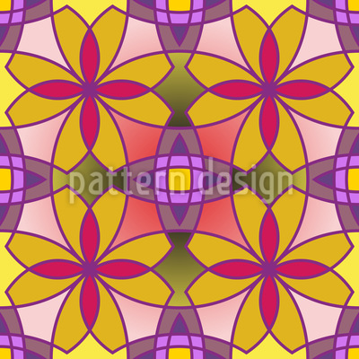 Metro Floral Color Pattern Design