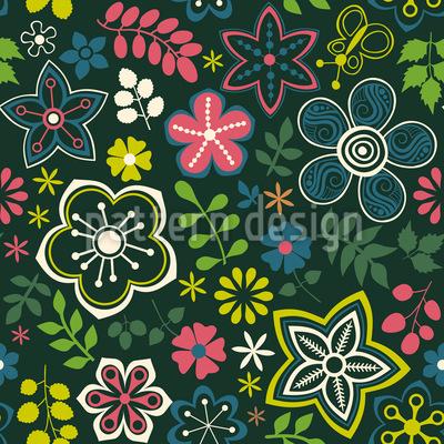 Floraler Fantasie Mix Designmuster
