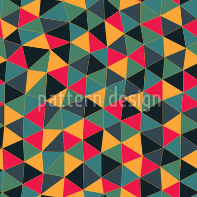 Geometric Dragon Dress Seamless Pattern