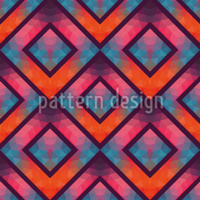 Crystal Retro Mosaic Pattern Design