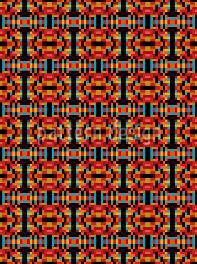 Quadrat Optik Nahtloses Vektor Muster