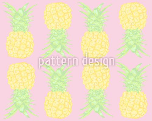 Ananas Nahtloses Vektor Muster