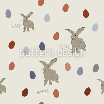 Happy Easterbunnies Vector Pattern