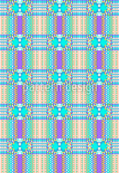 Pixel Schottenkaro Muster Design
