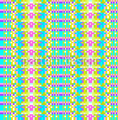 Pixel Streifen Vektor Ornament