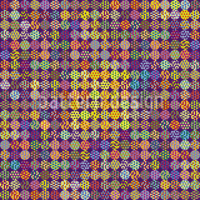 Pixeled Dots Repeating Pattern