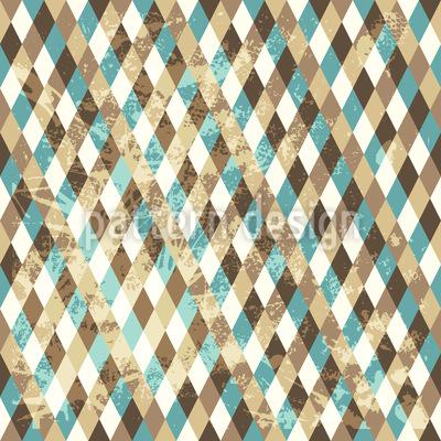Retro Rhombus Repeating Pattern