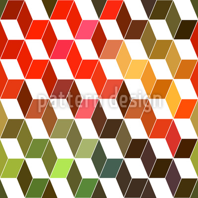 Zigzag Objects Seamless Vector Pattern Design