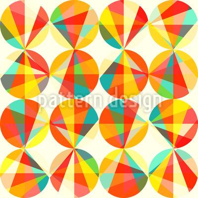 Lichtkreise Nahtloses Vektor Muster