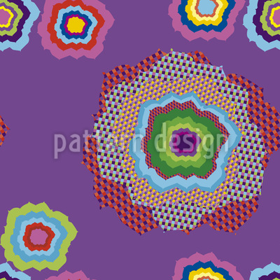 Pixel Flower Repeating Pattern