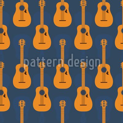 Creole Guitars Pattern Design